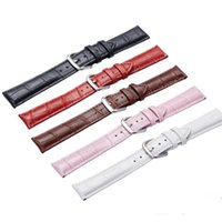 Genuine Leather Watch Bands Top Calf Grain Leather Watch Str...