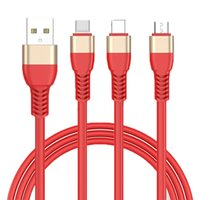 JOYROOM 3in1 USB Cable S318 Round Braided Copper Sync Data &...