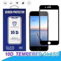 For iPhone X 8 Plus Tempered glass Full Cover 10D Curved Scr...