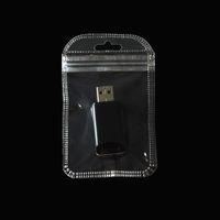 200pcs / lotto 7 * 11cm piccolo regalo Packaging Borse di plastica trasparente trasparente Zipper Poli sacchetto per la collana squillano imballaggio del sacchetto con il foro di caduta
