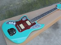 Factory Left Handed Blue Electric Guitar with Red Tortoise P...