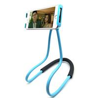 Soporte colgante flojo del soporte del teléfono móvil del collar de los soportes del cuello del cuello para el sostenedor universal de Samsung para Iphone x 8 7 6 6s más