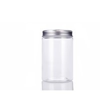 Vaso trasparente da 20ml 300ml con coperchio a vite sigillato, vasetti di biscotti trasparenti, contenitore grande formato 300G Bottiglia di plastica