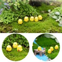 Giardino Decorazione fai da te artificiale mini animali resina mestiere rubinetto giallo pulcino combinazione bonsai figurina fata micro paesaggio ornamento