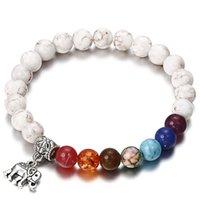 NS19 New 7 Chakra Bracciale Uomo nero Lava Healing Balance Beads Reiki Buddha preghiera naturale pietra braccialetto di yoga per le donne