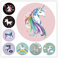 Wholesale unicorn round beach towel shawl 14 design polyeste...