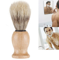 Мужчины Медведь бритья кисти Лучший Барсук волос Бритье деревянной ручкой бритвы парикмахера инструмент красоты кисти комплект аксессуары