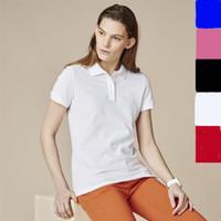 2019 crocodile Polo Shirt Women Short Sleeve Casual Shirts Man's Solid Polo Shirt Plus Camisa Polo Men Peru lady clothes