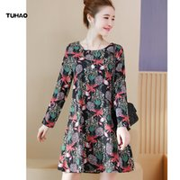 TUHAO Folral Print Large Size for women clothing Long Sleeve...