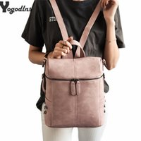 imple Style Rivet Backpack Women PU Leather Backpacks For Te...