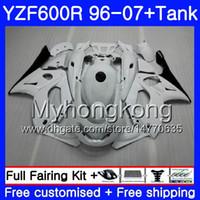 Glanz perlweiß Körper + Behälter für YAMAHA YZF600R Thundercat 02 03 04 05 06 07 229HM.25 YZF 600R YZF-600R 2002 2003 2004 2005 2006 2007 Verkleidung