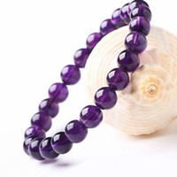 8mm Round Shape Genuine Natural Purple Amethyst Crystal Roun...