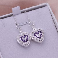 Earr Fine 925 Sterling Silver CZ Solid Earring for Women XMA...