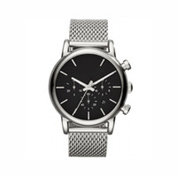 Men Silver Strap Mesh Stainless Steel Chronograph Watch 1811...