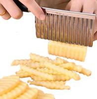 Küche Kochen Werkzeug-Edelstahl, Gemüse, Obst Wellenförmige Cutter Kartoffel-Gurken Karotte Waves Cutting Slicer