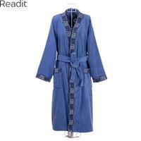 af70da627f Wholesale cotton terry bathrobes online - Men s Bathrobes Robes Male Plus  Size Cotton Terry Bathrobes