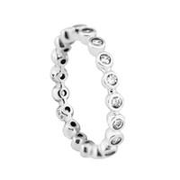Compatível com Europeia Pandora Jóias eternidade anel de prata anéis de casamento originais 925 prata esterlina jóias por atacado DIY