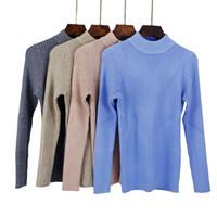 GIGOGOU Grosso Quente Mulheres Outono Inverno Pullover Camisola de Alta Elasticidade De Malha Macia Jumper Mangas Compridas Camisola Femme Top