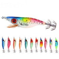 11pcs Artificial Wood Shrimp Fishing Lure kit 10cm 9. 2g Squi...
