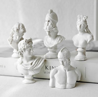 9 PCS Set Resin Imitation Plaster Bust Statues Model Statuet...