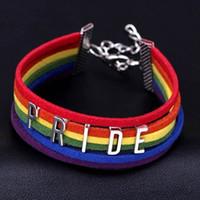 pulsera hecha a mano vendedora caliente del orgullo del encanto del corazón Brainded brancelet orgu pulsera caliente Lesbianas