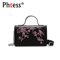 2018 Women Embroidery Flowers Messenger Bags For Girls Sac a...