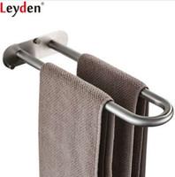 Leyden 304 스테인레스 스틸 브러쉬 더블 바 수건 반지 벽 마운트 욕실 액세서리 목욕 타월 홀더 목욕 하드웨어