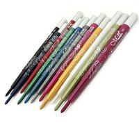 Wholesale-MENOW ماركة التلقائي تدوير 12 لون كحل القلم العين شاو قلم رصاص ماكياج مجموعة ماء العين اينر ظلال الأزياء مستحضرات التجميل