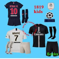2018 2019 kids kit Paris PSG mbappe soccer Jerseys 18 19 Cha...