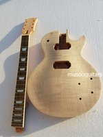 New project electric guitar kit with flame maple top (2cm- 3c...