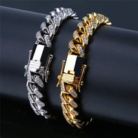 2019 Fashion Brand Jewellry Ice Out Gold Link Chain Bracelet...