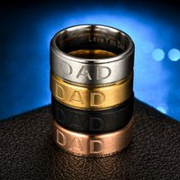 الحب أبي الدائري المقاوم للصدأ الفضة الذهب الفرقة خواتم رجل الأب هدية عيد الأزياء والمجوهرات سوف والرمل