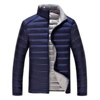caída de la moda y la fina capa delgada ligera de los hombres blancos de invierno de la chaqueta abajo los hombres de ultra prendas de vestir exteriores envío libre