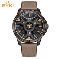 EYKI мужчины военный водонепроницаемый спортивные часы мужчина роскошные армейские Кварцевые наручные часы Doulbe циферблат Relogio Masculino Reloj Hombre