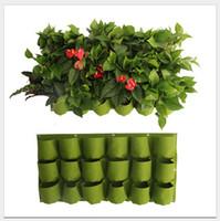 0.5 m * 1 m Bolsillos de Interior Al Aire Libre Planta de Jardín de Fieltro Sentido Crecer Bolsas de Contenedores Macetas Colgantes Macetas en la pared