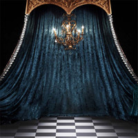 8x12ft Steel Blue Curtain Drape Wedding Photo Background Ind...