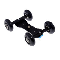 Tabletop Mobile 3 en 1 Flexible Rail Rolling Track Slider Skater Dolly Car con montaje de trípode incorporado para Speedlite DSLR Camera Camcorder