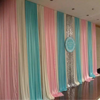 3*6m (10ft*20ft) wedding backdrop with swags Stage Curtain w...