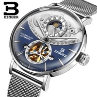 Genuine Luxury men mechanical watch BINGER Brand Men full st...