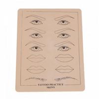 En gros Top Qualité Maquillage Permanent Sourcils Lèvres Pratique De Tatouage Peau Formation Peau Ensemble Pour Débutants livraison gratuite