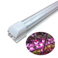LED cresce luz tubo T8 4FT. O espectro completo cresce luzes para a hidroponia, solo orgânico, planta de florescência interna, planta de frutificação