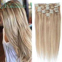 Fairgreat P18 613#Clip- in Full Head Straight Human Hair Exte...