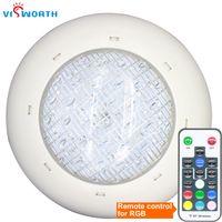 حمام سباحة LED مصباح AC / DC 12V 24W 36W LED لمبة IP68 SMD5730 90PCS المصابيح SPA الإضاءة بركة RGB دافئ / بارد الأضواء البيضاء