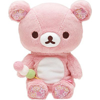 Pink Rilakkuma Bear Plush Toys 20CM Soft Relax Bear Stuffed ...