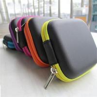 크리 에이 티브 PU EVA 이어폰 스토리지 박스 사각형 메쉬 데이터 라인 지퍼 가방에 내장 된 다기능 케이스 주최자 홈 1 5ph ii