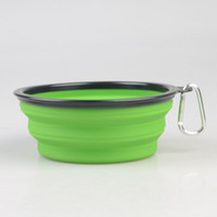 D66 new big pet bowls with hook silicone Bowl 1000 ml pet fo...