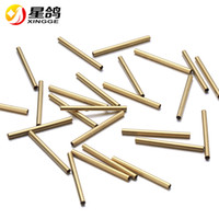 2*25mm Smooth Tube Charms Spacer Beads for Jewelry gold colo...