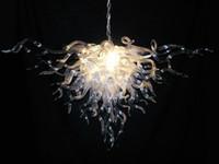 램프 높은 긴 체인 무라노 샹들리에 맑은 색상 패션 크리스탈 천장 110V-240V LED 전구 현대 생활 룸 조명