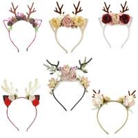 VieeEase Baby Girls Headbands Unicorn Pehing Sticks 2018 Fashion Horn Flower Gauze Gauze Headband Girls Princess Accesorios de fiesta EE-970