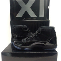 With OG Box Cap and Gown XI 11s PROM NIGHT 11 BLACKOUT 37803...